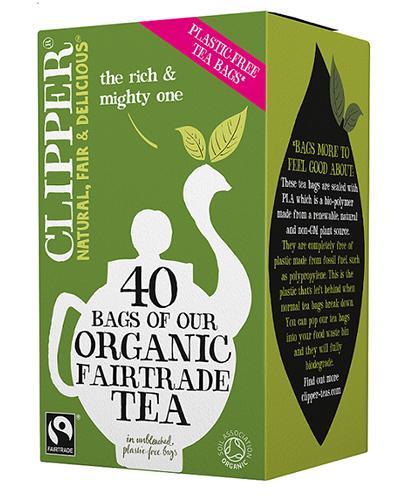 Clipper Teas Herbata czarna Fair Trade Bio - 40 sasz. - cena, opinie, stosowanie - Drogeria Melissa