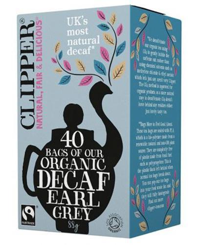 Clipper Teas Herbata Earl Grey Bezkofeinowa Fair Trade Bio - 40 sasz. - cena, opinie, stosowanie