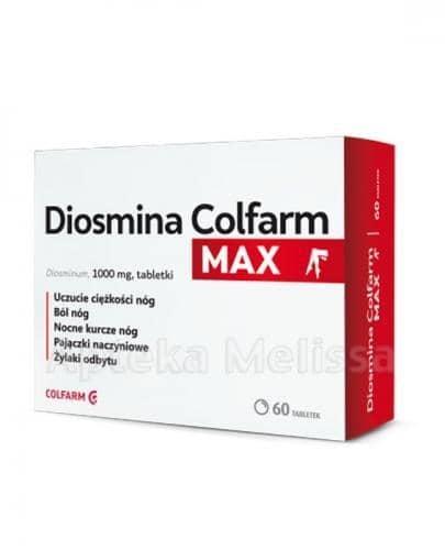 COLFARM Diosmina MAX 1000 mg - 60 tabl. - Apteka internetowa Melissa