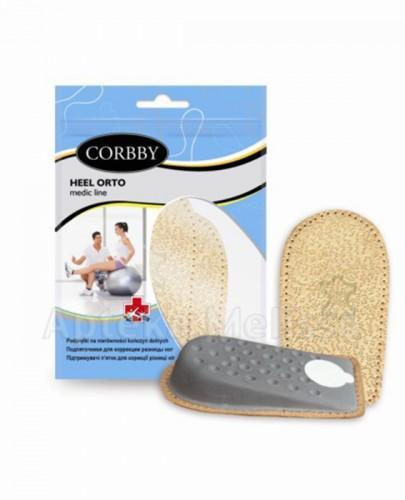 CORBBY HEEL ORTO Podpiętki na nierówności kończyn dolnych dla kobiet 2 cm - 2 szt.