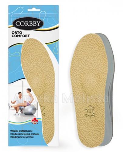 CORBBY ORTO COMFORT Wkładki skórzane profilaktyczne rozmiar 39/40 - 2 szt. - Apteka internetowa Melissa