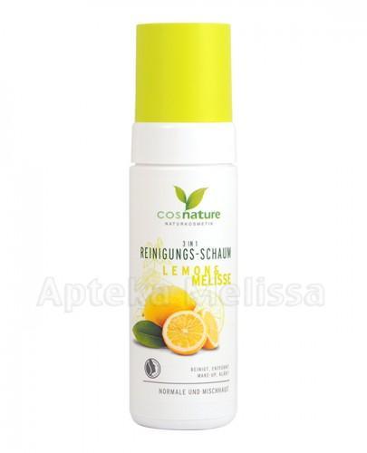 COSNATURE Naturalna pianka oczyszczająca 3 w 1 z cytryną i melisą - 150 ml
