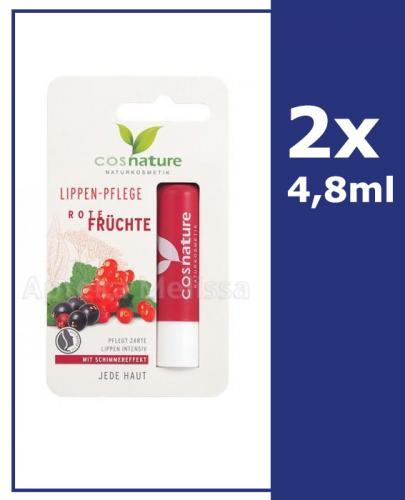 COSNATURE Naturalny ochronny balsam do ust z ekstraktem z czerwonych owoców - 2 x 4,8 g - Apteka internetowa Melissa