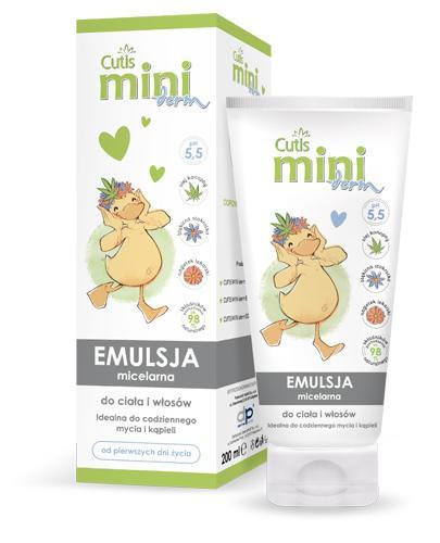 CUTIS MINI DERM Emulsja micelarna do ciała i włosów - 200 ml - łagodne środki myjące - cena, właściwości, opinie - Apteka internetowa Melissa
