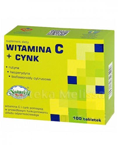 NATURELL CYNK + WITAMINA C - 100 tabl. - Apteka internetowa Melissa
