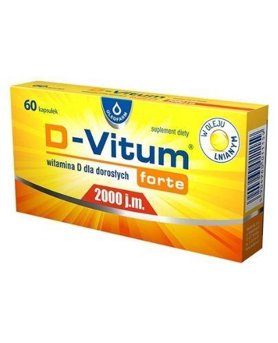 D-VITUM FORTE Witamina D dla dorosłych 2000 j.m. - 60 kaps. - Apteka internetowa Melissa