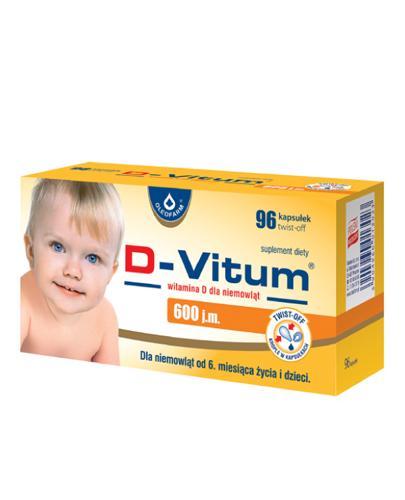 D-VITUM Witamina D dla niemowląt twist-off 600 j.m. - 96 kaps.