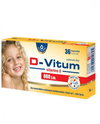 D-VITUM Witamina D 800 j.m. - 36 kaps. twist-off