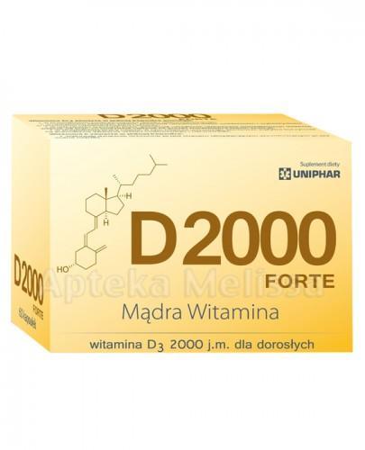 UNIPHAR D2000 FORTE Witamina D3 dla dorosłych - 60 kaps.