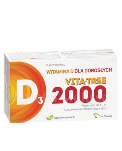 D3 VITA-TREE 2000 Witamina D dla dorosłych - 60 kaps.