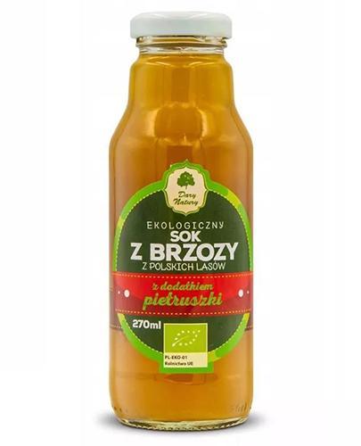Dary Natury Ekologiczny sok z brzozy z dodatkiem pietruszki - 270 ml - cena, opinie, właściwości - Drogeria Melissa