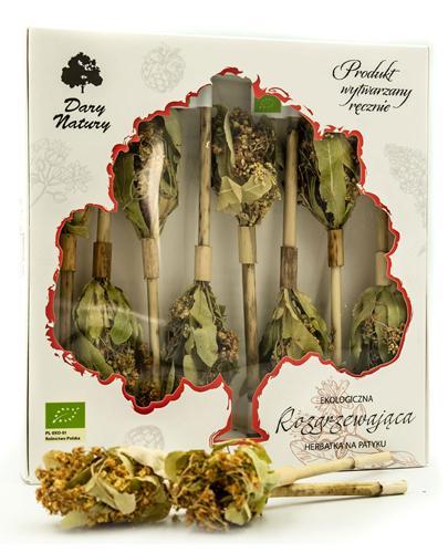 DARY NATURY Herbatka na patyku Rozgrzewająca - 8 szt. - cena, właściwości
