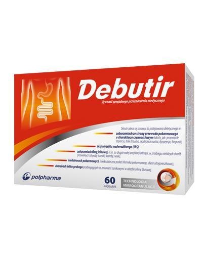 Debutir - 60 kaps. - na choroby przewody pokarmowego cena, opinie, dawkowanie - Drogeria Melissa