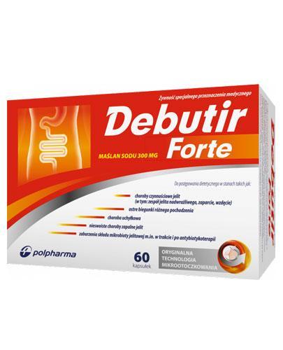 Debutir Forte - 60 kaps. - IBS, biegunki, mikrobiota jelit - cena, opinie, właściwości  - Apteka internetowa Melissa
