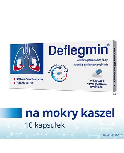DEFLEGMIN 75 mg - 10 kaps. o przedłużonym uwalnianiu - Apteka internetowa Melissa