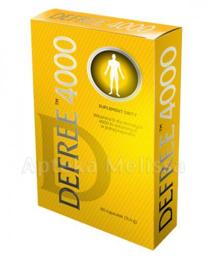 DEFREE 4000 Witamina D - 60 kaps. - Apteka internetowa Melissa