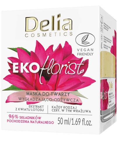 Delia Ekoflorist Wygładzająco-odżywcza maska do twarzy - 50 ml - cena, opinie, skład - Drogeria Melissa