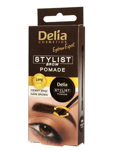 Delia Pomada do brwi ciemny brąz 3.0 - 1 szt. Do makijażu i korekty kształtu brwi - cena, opinie, stosowanie  - Apteka internetowa Melissa