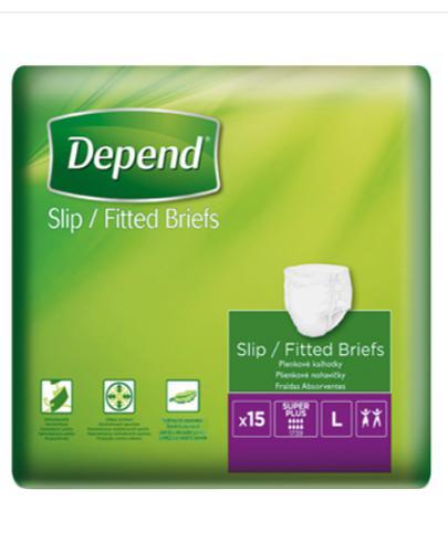 Depend Slip Super Plus Pieluchy dla dorosłych, rozmiar L - 15 szt. - cena, opinie, właściwości - Apteka internetowa Melissa