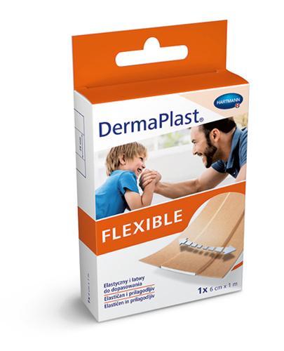DermaPlast Flexible Plaster z elastycznej tkaniny tekstylnej 6 cm x 1 m - 1 szt. Na skaleczenia - cena, opinie, właściwości  - Apteka internetowa Melissa