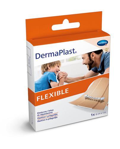DermaPlast Flexible Plaster z elastycznej tkaniny tekstylnej 8 cm x 1 m - 1 szt. Na drobne rany - cena, opinie, właściwości