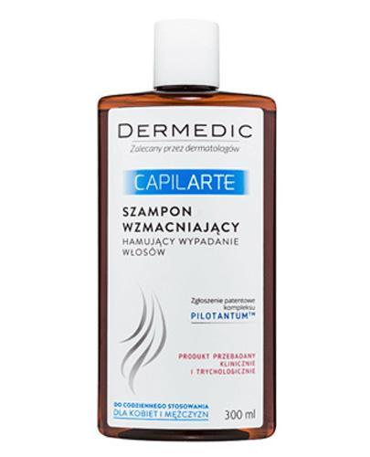 DERMEDIC CAPILARTE Szampon wzmacniający hamujący wypadanie włosów - 300 ml - Apteka internetowa Melissa