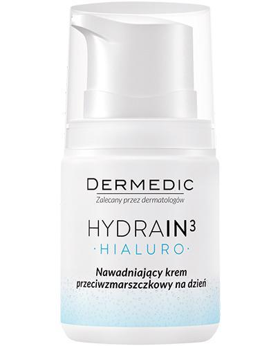 DERMEDIC HYDRAIN 3 HIALURO Nawadniający krem przeciwzmarszczkowy na dzień - 55 ml  - Apteka internetowa Melissa