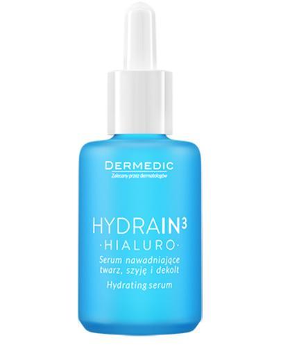 DERMEDIC HYDRAIN 3 HIALURO Serum nawadniające twarz, szyję i dekolt - 30 ml - Apteka internetowa Melissa