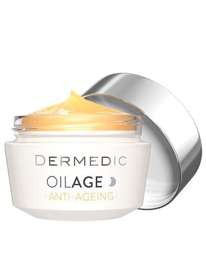 DERMEDIC OILAGE ANTI-AGEING Naprawczy krem na noc przywracający gęstość skóry - 50 g