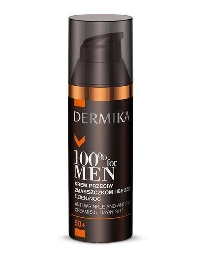 DERMIKA 100% FOR MEN Krem przeciw zmarszczkom i bruzdom 50+ - 50 ml