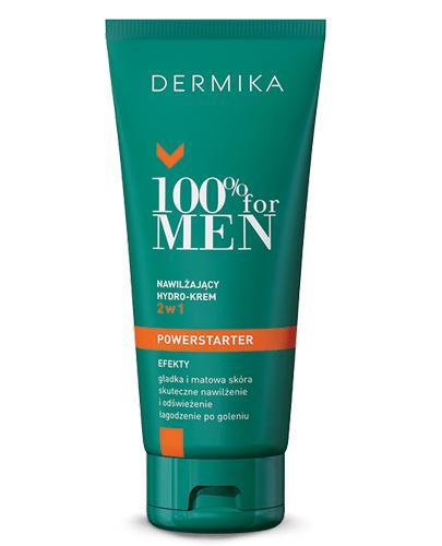 DERMIKA 100% FOR MEN Nawilżający hydro-krem do twarzy 2w1 - 100 ml - Drogeria Melissa