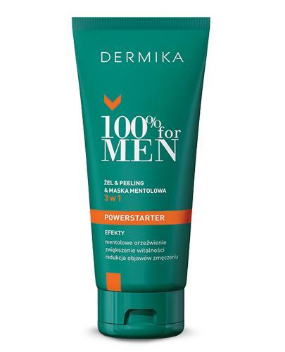 DERMIKA 100% FOR MEN Żel & peeling & maska mentolowa 3w1 - 100 ml