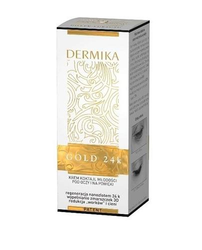DERMIKA GOLD 24k Krem koktajl młodości pod oczy i na powieki - 15 ml
