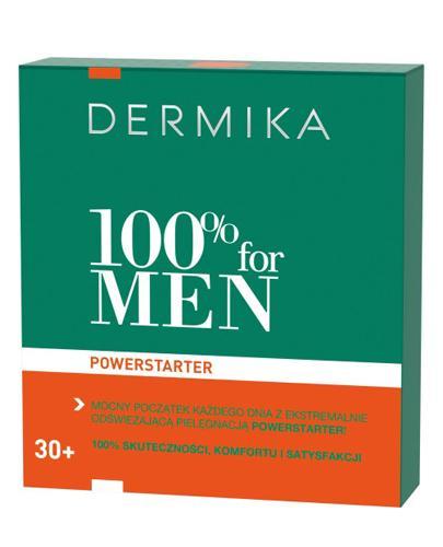 DERMIKA MEN POWERSTARTER, 30+ Zestaw Nawilżający hydro-krem 2w1 + Żel & Peeling & Maska mentolowa 3w1 - 100 ml + 20 ml