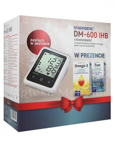 DIAGNOSTIC DM-600 IHB Ciśnieniomierz automatyczny + Omega 3 500 mg + witamina E - 60 kaps. + Tran z witaminami i kwasami omega-3 - 60 kaps. - Apteka internetowa Melissa