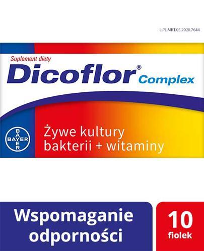 DICOFLOR COMPLEX - 10 fiol. Wspomaganie odporności dla dorosłych i dzieci - cena, opinie, właściwości