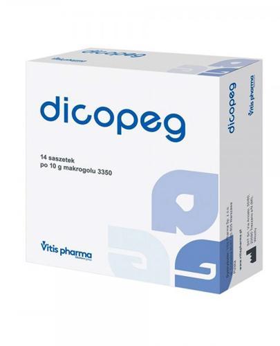 DICOPEG -  działanie przeczyszczające - 14 sasz. - cena, dawkowanie, opinie  - Apteka internetowa Melissa