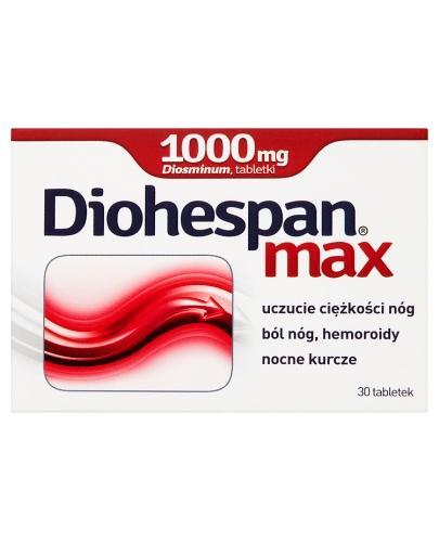DIOHESPAN MAX 1000 mg - 30 tabl. Na żylaki. - Apteka internetowa Melissa