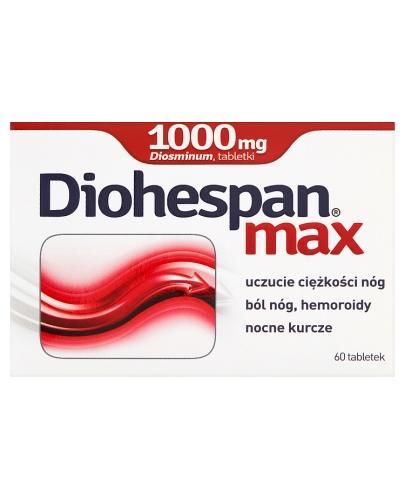 DIOHESPAN MAX 1000 mg - 60 tabl. Na żylaki. - cena, opinie, wskazania - Apteka internetowa Melissa