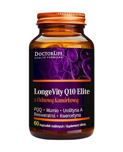 DoctorLife Q10 500 Elite Rewitalizuje Geny Długowieczności - 60 kaps. - cena, opinie, właściwości