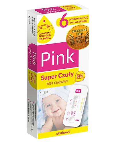 f6afbe9fbea972 DOMOWE LABORATORIUM PINK TEST SUPER CZUŁY Domowy test ciążowy płytkowy - 1  szt.