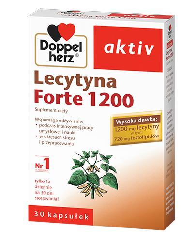 DOPPELHERZ AKTIV Lecytyna Forte 1200 mg - 30 kaps. Dla lepszej koncentracji i nauki. - Drogeria Melissa