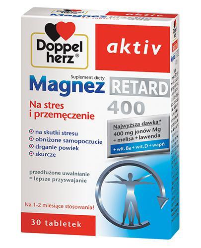 DOPPELHERZ AKTIV Magnez 400 Retard Na stres i przemęczenie - 30 tabl.  - Drogeria Melissa