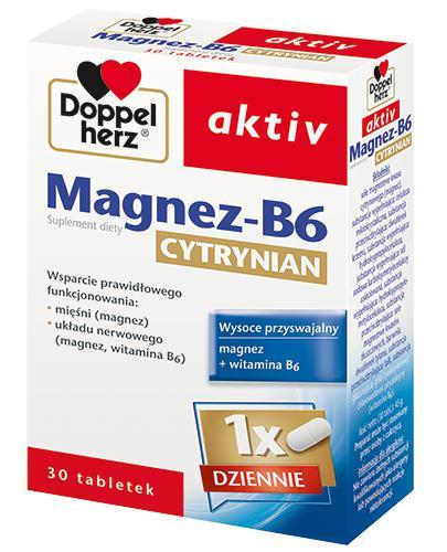 DOPPELHERZ AKTIV Magnez B6 Cytrynian - 30 tabl. - cena, dawkowanie - Drogeria Melissa