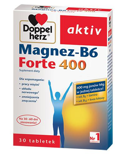 DOPPELHERZ AKTIV Magnez B6 Forte 400 mg - 30 tabl. - Apteka internetowa Melissa