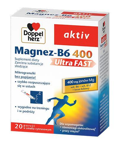 DOPPELHERZ AKTIV Magnez-B6 ultra fast - 20 sasz. - Apteka internetowa Melissa