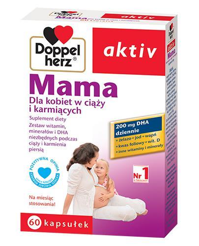 DOPPELHERZ AKTIV Mama dla kobiet w ciąży i karmiących - 60 kaps. - Drogeria Melissa