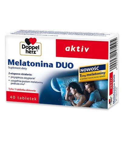 Doppelherz aktiv Melatonina DUO - 40 tabl. Na bezsenność - cena, opinie, wskazania - Drogeria Melissa