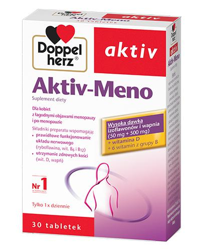 DOPPELHERZ AKTIV Meno - 30 tabl. Wsparcie w okresie menopauzy. - Apteka internetowa Melissa