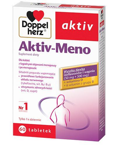 DOPPELHERZ AKTIV Meno - 60 tabl. Wsparcie w okresie menopauzy. - Drogeria Melissa